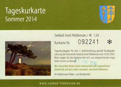 hiddensee kurkarte